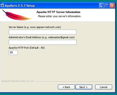 Ví dụ về cài đặt PHP